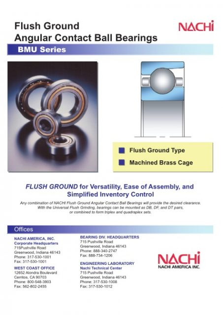 NACHI - BMU Angular Contact Ball Brg